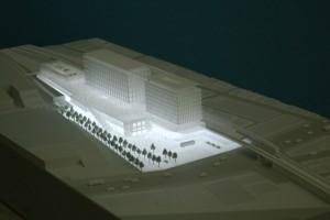 駅ビル建築模型